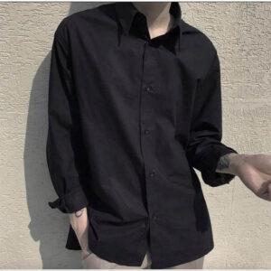 cách phối đồ với áo sơ mi đen nam