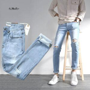 cách phối đồ với quần jean rách nam