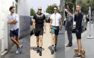 phối đồ với quần short nam